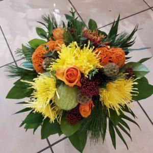 Bouquet rond «Chaleureux»
